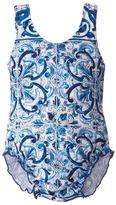 Dolce & Gabbana Mediteranean Print Swimsuit (Infant)