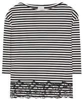 Moncler Striped cotton top