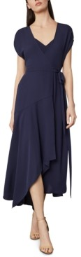 BCBGMAXAZRIA Asymmetric-Hem Wrap Dress