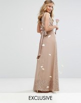 Maya Embellished Maxi Dress With Bow Back