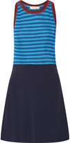 Sandro Ruggia stretch-knit and crepe mini dress