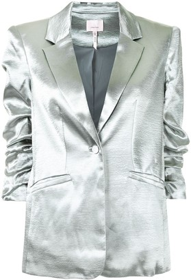 Cinq à Sept Metallic-Effect Fitted Blazer