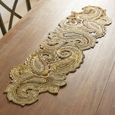 """Pier 1 Imports Majestic Paisley Beaded Table Runner - 54"""""""