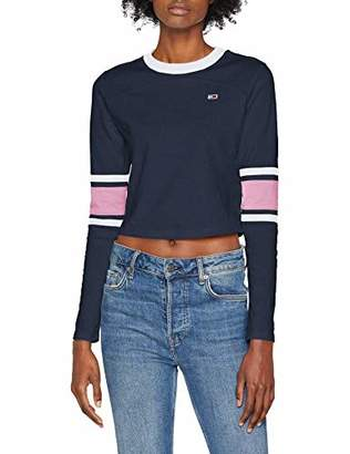 Tommy Jeans Women's Cropped Long Sleeve Top,X-Large