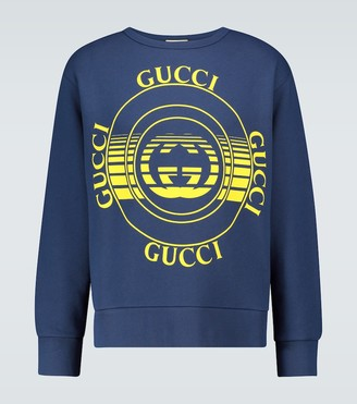 Gucci Disk printed oversized sweatshirt