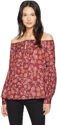 The Fifth Label Women's Carousel Halter Long Sleeve Printed Top