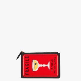 Lulu Guinness Lottie Fragile Travel Stamp Red Wallet