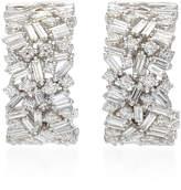 Suzanne Kalan Fireworks 18K White-Gold Hoop Earrings