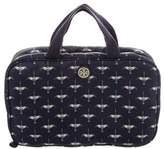 Tory Burch Printed Travel Cosmetic Case w/ Tags