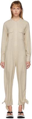 Isabel Marant Off-White Silk Tacaia Jumpsuit