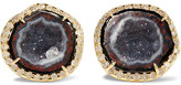 Kimberly McDonald - 18-karat Gold, Geode And Diamond Earrings - one size