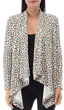 Baobab Collection Amie French Terry Animal Print Cardigan