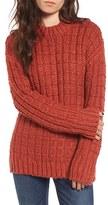 Moon River Women's Chunky Knit Crewneck Sweater