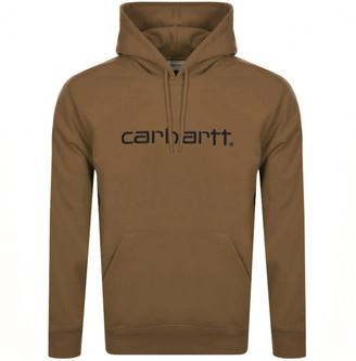 Carhartt Logo Hoodie Brown