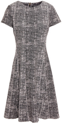 DKNY Flared Jacquard-knit Dress