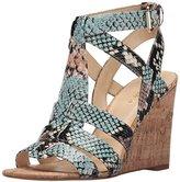 Nine West Women's Farfalla Synthetic Wedge Sandal