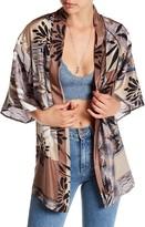 Love + Harmony Floral Silk Kimono Jacket