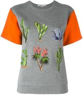 Stella McCartney embroidered floral T-shirt - women - Cotton/Spandex/Elastane/Acetate/Viscose - 42