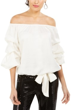 MSK Petite Puff-Sleeve Blouse