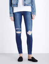 Paige Verdugo distressed ultra-skinny mid-rise jeans