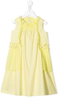 Il Gufo Pleat Detail Shift Dress