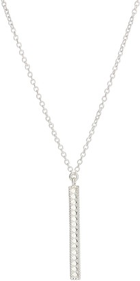 Anna Beck Sterling Silver Long Vertical Bar Necklace