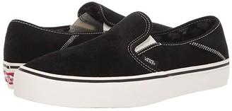 Vans Slip-On SF ((Suede) Black/Checkerboard) Shoes