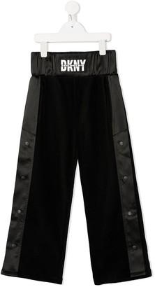 DKNY Logo Wide-Leg Trousers