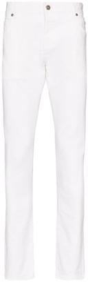 Balmain Cotton Blend Slim Cut Jeans