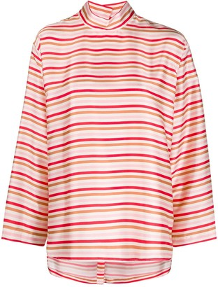 Jejia Striped Boxy Tunic Top