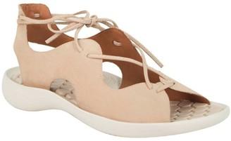 L'Amour des Pieds Leather Lace-Up Sandals - Nesimah