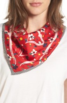 Marc Jacobs Women's Hearts & Flowers Square Silk Scarf
