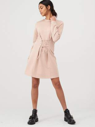 River Island Corset Sweater Dress-pink
