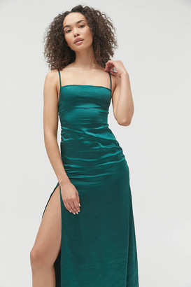 Motel Bonita Satin Slip Maxi Dress
