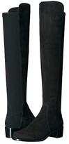 Stuart Weitzman Reserve Knee High Boot (Black Suede/Stretch Gabardine) Women's Dress Pull-on Boots