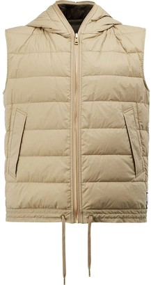 Moncler Beige Hooded Waistcoat Neutral