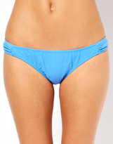 South Beach Gathered Bikini Brief - Blue