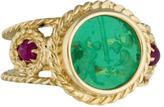 Tagliamonte 14K Venetian Cameo & Ruby Ring