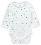 Petit Bateau Newborn baby boys printed bodysuit