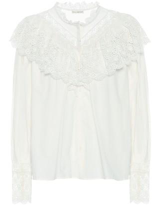 Ulla Johnson Ethel cotton-poplin blouse