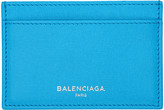 Balenciaga Blue Essential Single Card Holder