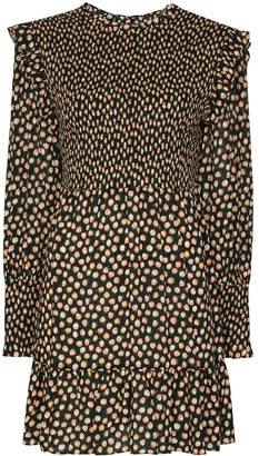 Rixo Talisa shirred floral-print mini dress
