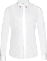 Givenchy Metal-tip collar cotton-poplin shirt