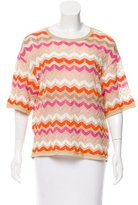 M Missoni Open Knit Patterned Top