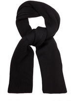Lemaire Ribbed-knit wool scarf
