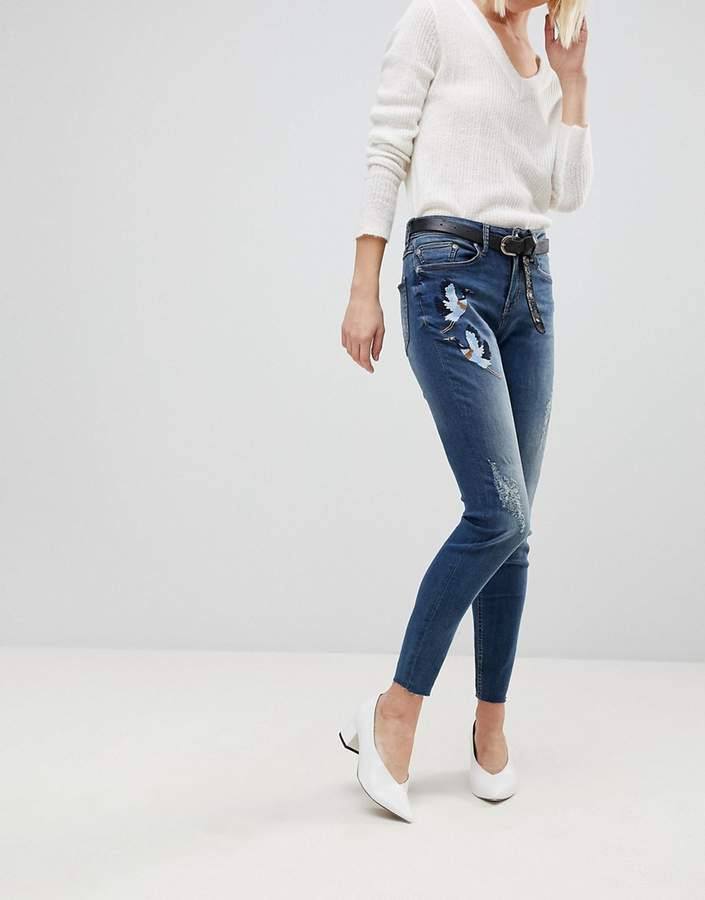 B.young Embroidered Jeans