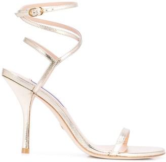 Stuart Weitzman metallic high heeled sandals