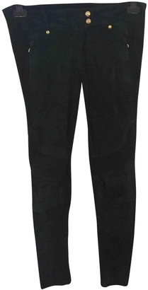 Balmain For H&m Green Exotic leathers Trousers