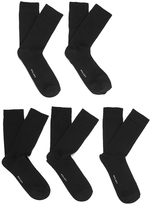 Wolsey 5 Pack Cotton Socks Black