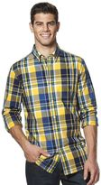 Chaps Big & Tall Plaid Button-Down Shirt